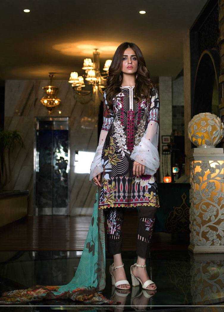 Sifona Embroidered Linen Unstitched 3 Piece Suit SF17W 09
