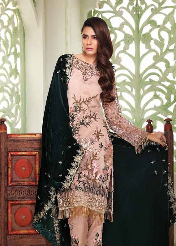 Sifona Embroidered Cotton Net Unstitched 3 Piece Suit SF18C 06