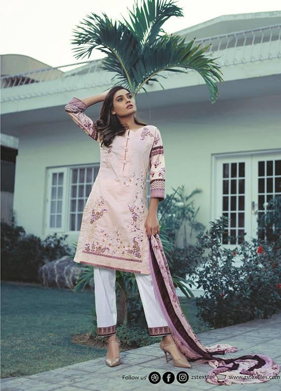 Sahil By ZS Textiles Embroidered Cotton Unstitched 3 Piece Suit SH17C 10B