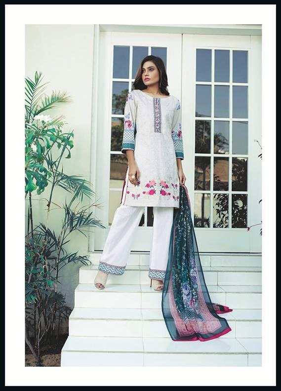 Sahil By ZS Textiles Embroidered Cotton Unstitched 3 Piece Suit SH17C 1A