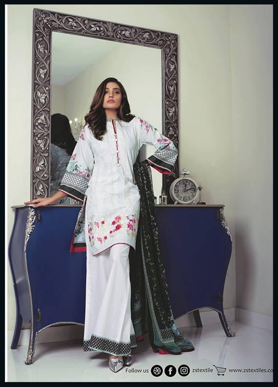 Sahil By ZS Textiles Embroidered Cotton Unstitched 3 Piece Suit SH17C 1B