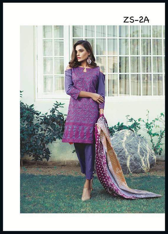 Sahil By ZS Textiles Embroidered Cotton Unstitched 3 Piece Suit SH17C 2A