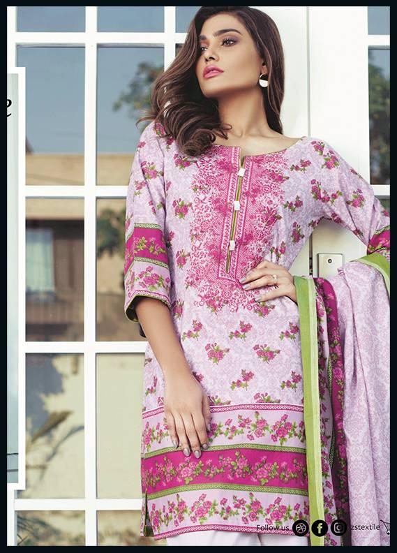 Sahil By ZS Textiles Embroidered Cotton Unstitched 3 Piece Suit SH17C 3A