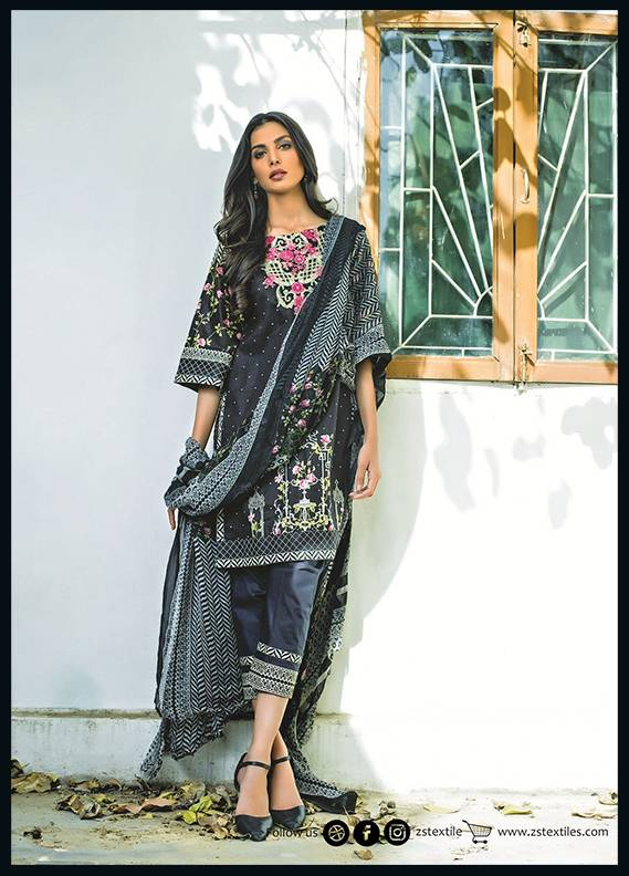Sahil By ZS Textiles Embroidered Cotton Unstitched 3 Piece Suit SH17C 4A