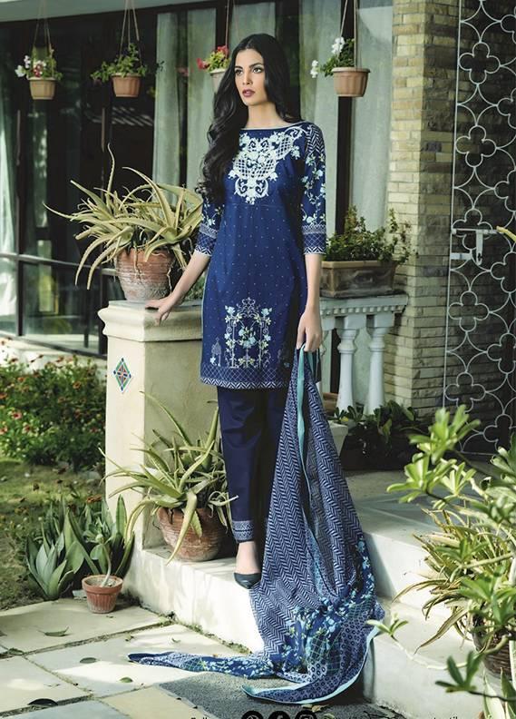 Sahil By ZS Textiles Embroidered Cotton Unstitched 3 Piece Suit SH17C 4B