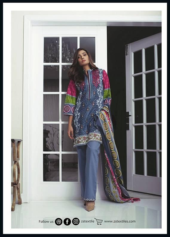 Sahil By ZS Textiles Embroidered Cotton Unstitched 3 Piece Suit SH17C 7A