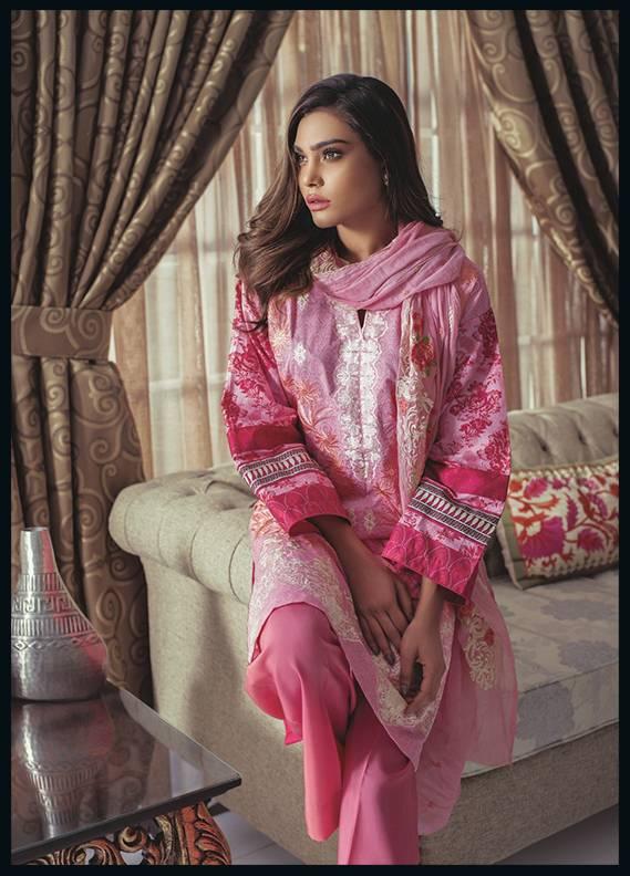 Sahil By ZS Textiles Embroidered Cotton Unstitched 3 Piece Suit SH17C 8A