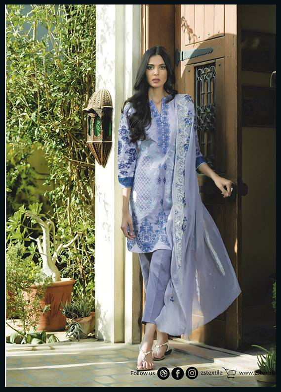 Sahil By ZS Textiles Embroidered Cotton Unstitched 3 Piece Suit SH17C 8B