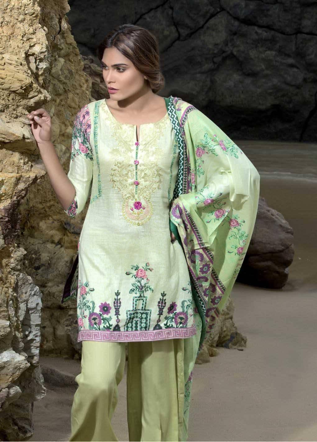 Sahil By ZS Textiles Embroidered Lawn Unstitched 3 Piece Suit SH17E2 6B