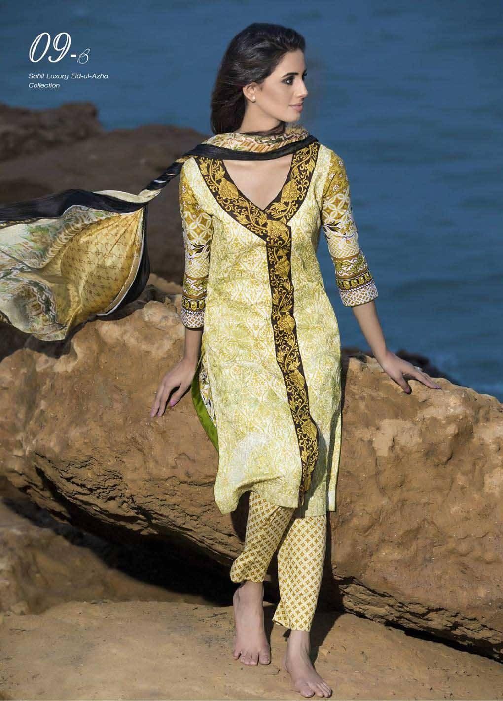 Sahil By ZS Textiles Embroidered Lawn Unstitched 3 Piece Suit SH17E2 9B