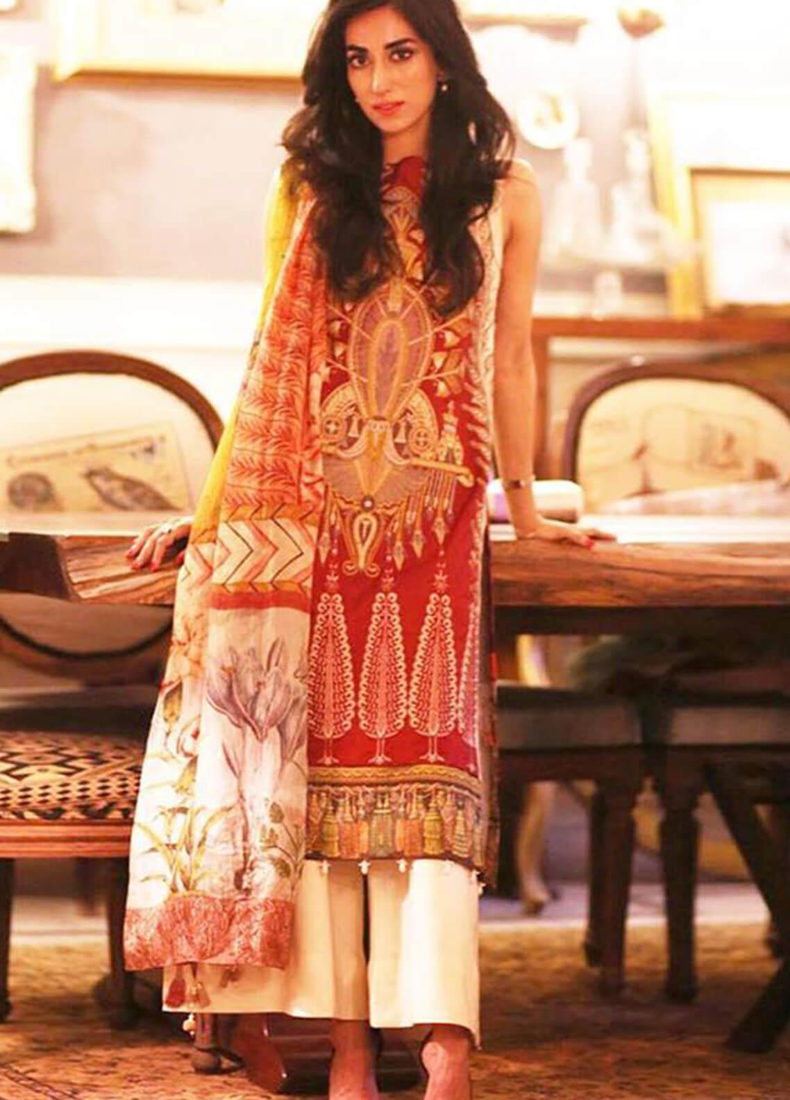 Shiza Hassan Embroidered Lawn Unstitched 3 Piece Suit SH19L 9A CARNIVAL - Spring / Summer Collection