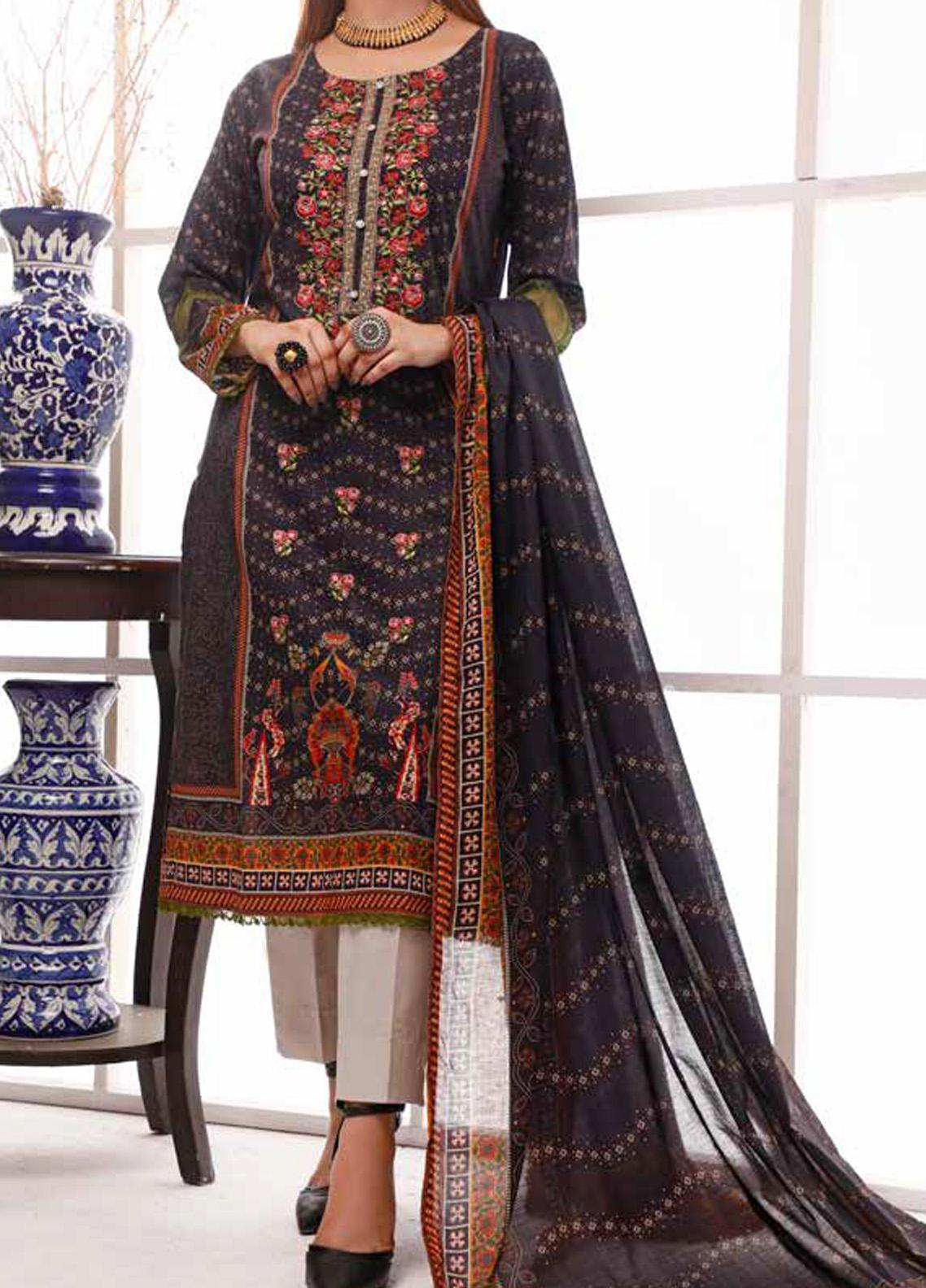 Shahkar by VS Textiles Embroidered Lawn Unstitched 3 Piece Suit VS20SH 20-16 - Spring / Summer Collection