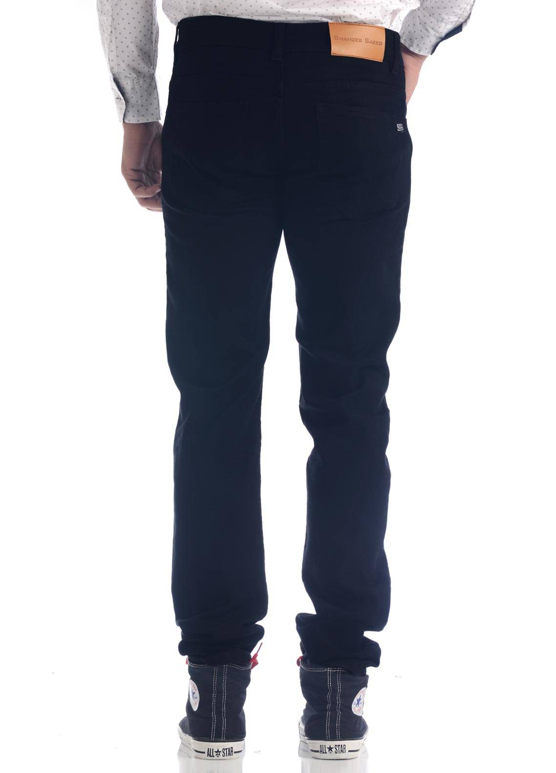 Shahzeb Saeed Denim Casual Jeans for Men - Black DNM-92