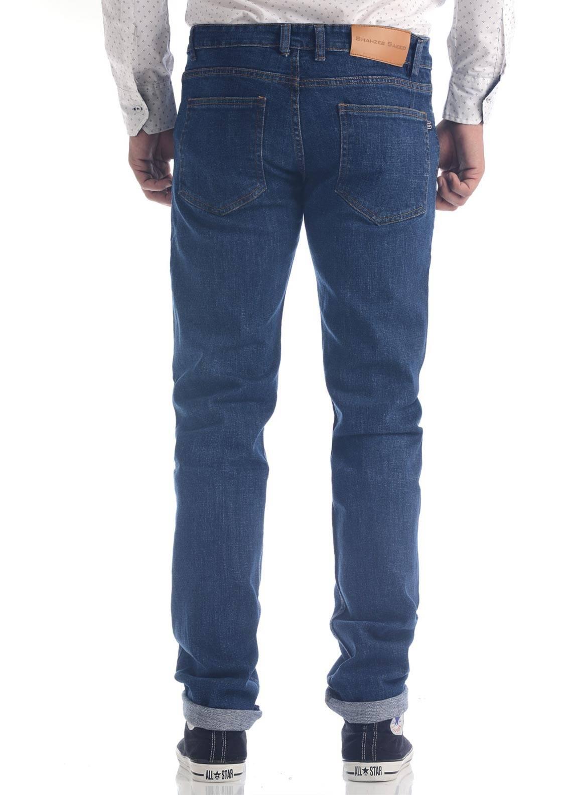Shahzeb Saeed Denim Casual Men Jeans - Blue DNM-93