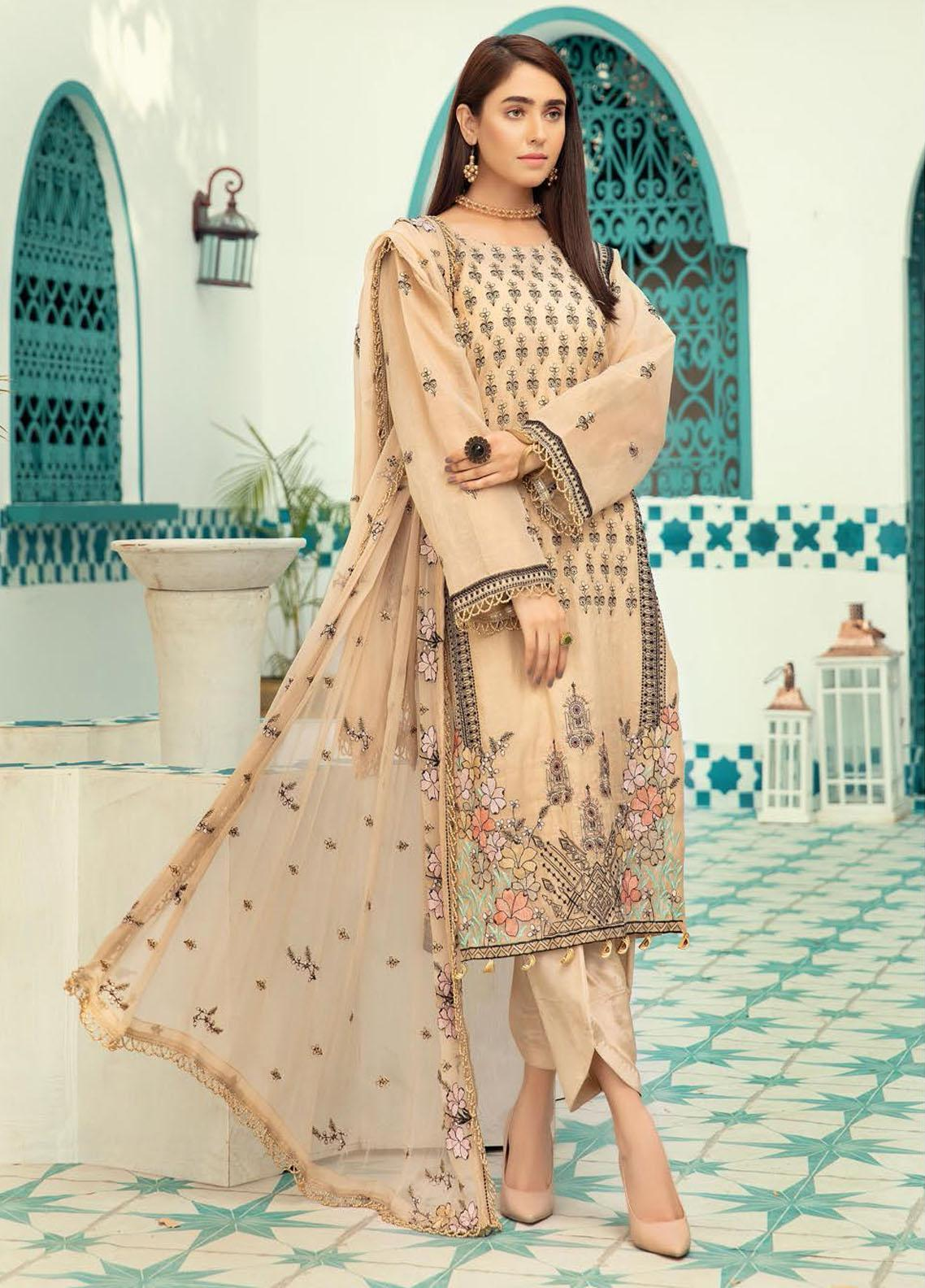 Shaista Embroidered Missouri Unstitched 3 Piece Suit SHT20LM 328 - Luxury Collection