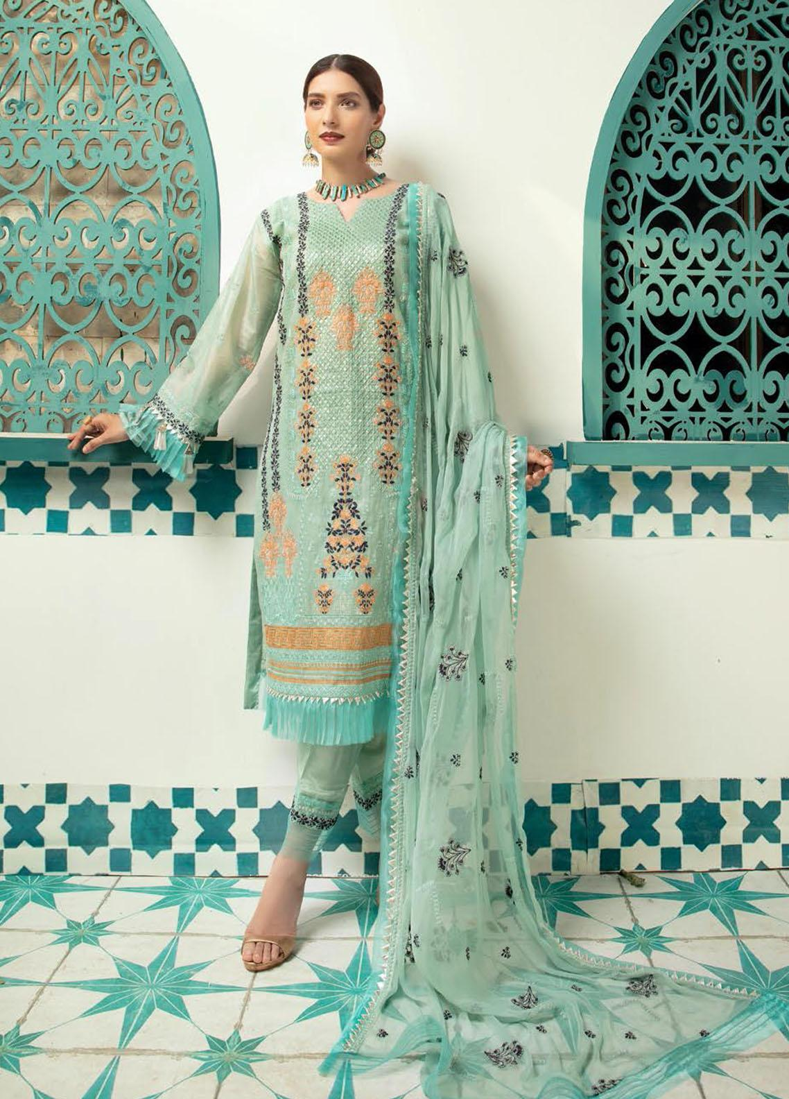 Shaista Embroidered Missouri Unstitched 3 Piece Suit SHT20LM 336 - Luxury Collection