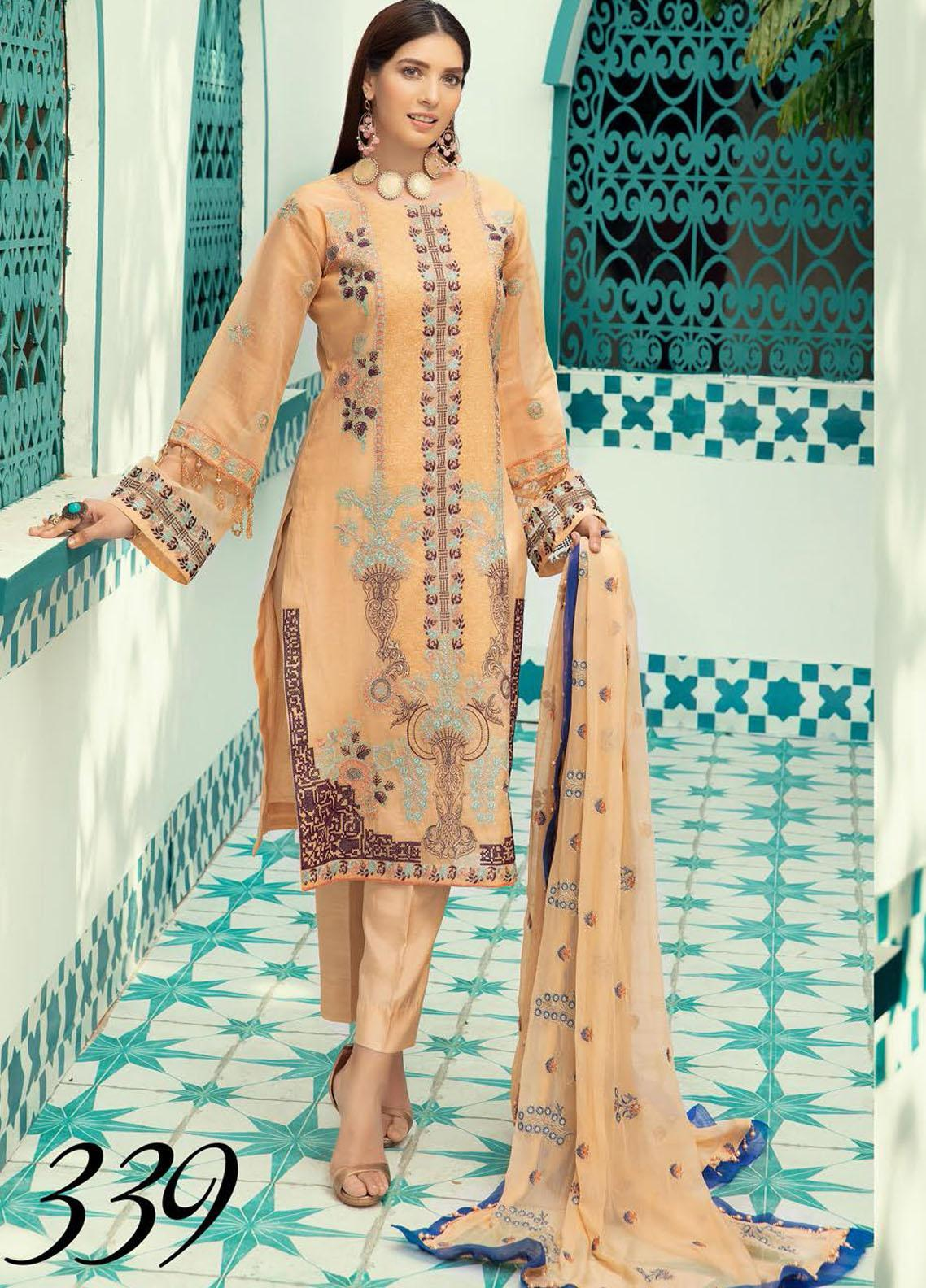 Shaista Embroidered Missouri Unstitched 3 Piece Suit SHT20LM 339 - Luxury Collection