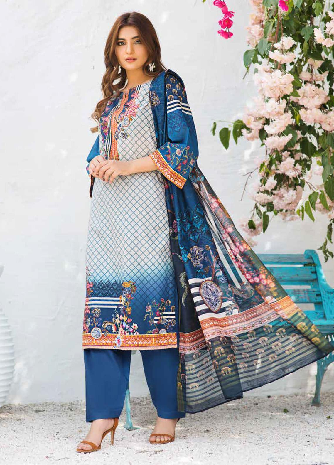 Shajar by Rashid Textiles Printed Lawn Unstitched 3 Piece Suit RD20S 1976 - Spring / Summer Collection