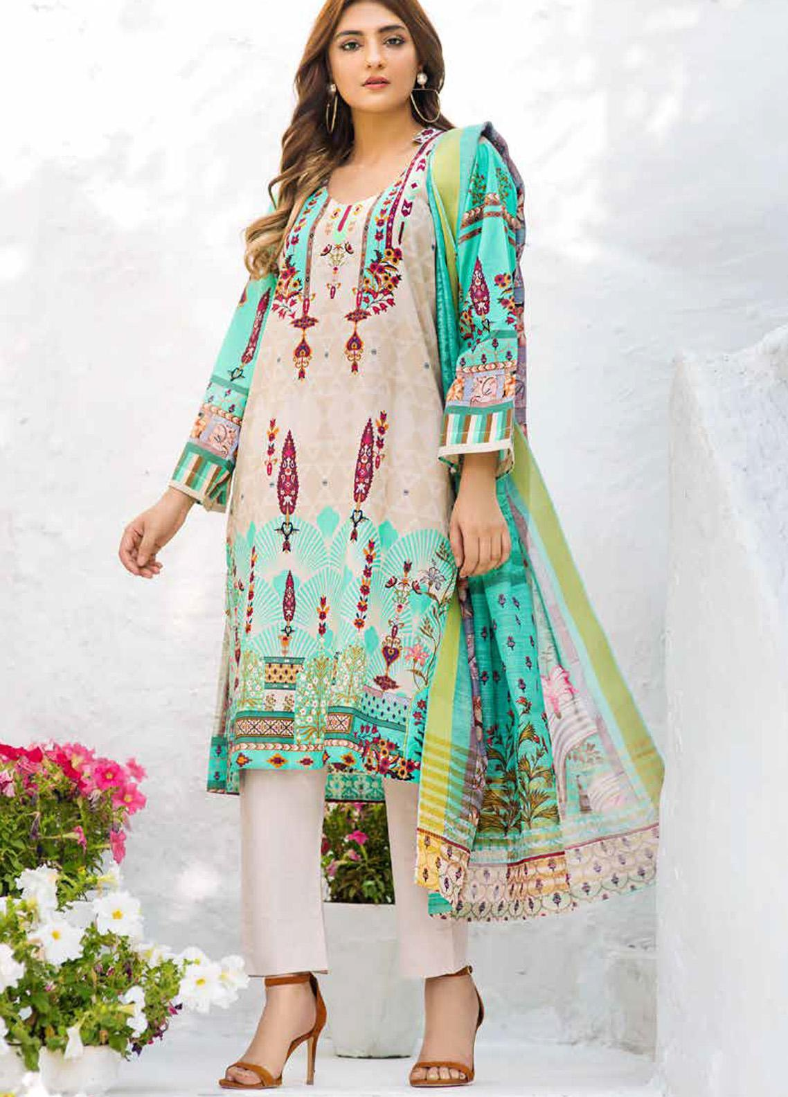 Shajar by Rashid Textiles Printed Lawn Unstitched 3 Piece Suit RD20S 1977 - Spring / Summer Collection