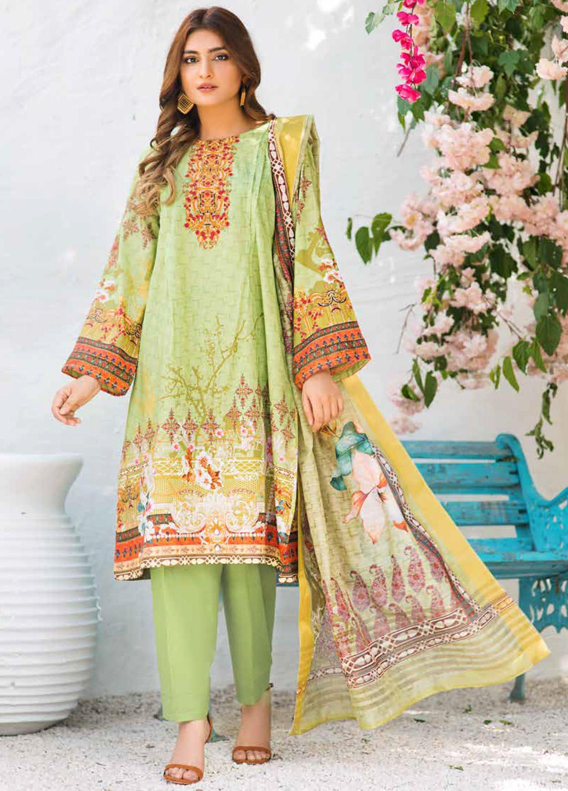 Shajar by Rashid Textiles Printed Lawn Unstitched 3 Piece Suit RD20S 1981 - Spring / Summer Collection