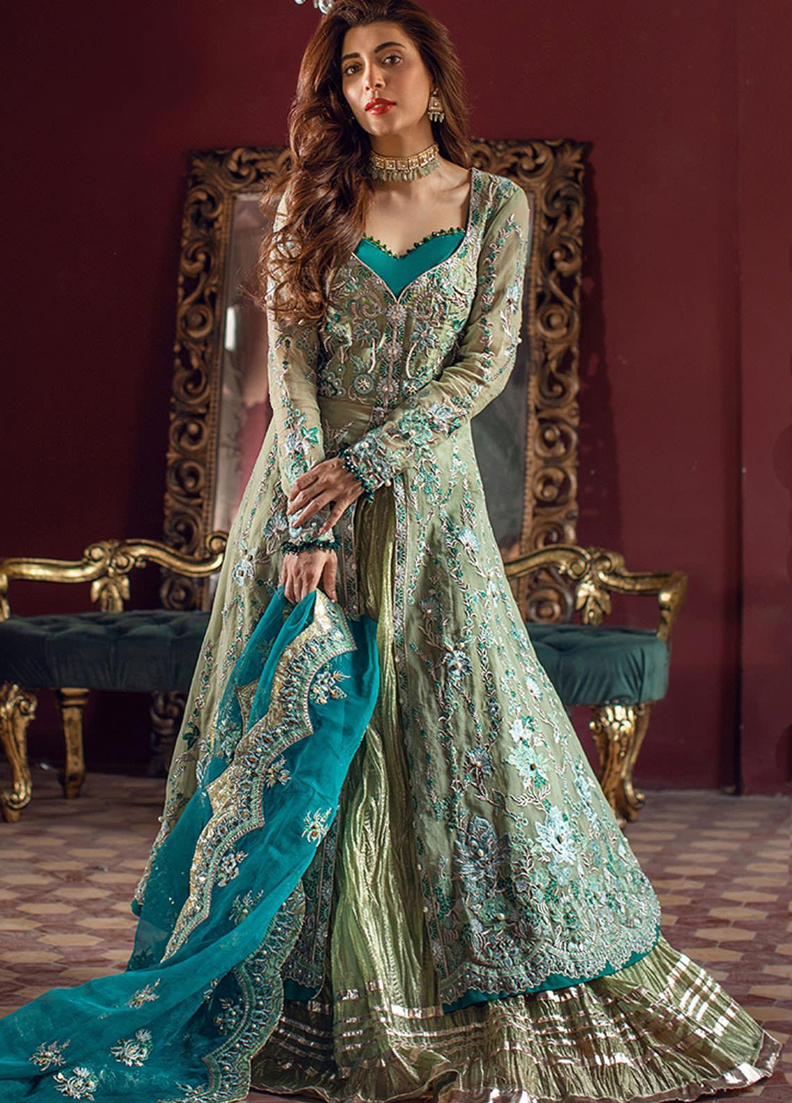 Sheeba Kapadia Embroidered Organza Suits Unstitched 3 Piece SHK21BR 05-Zoha - Festive Collection