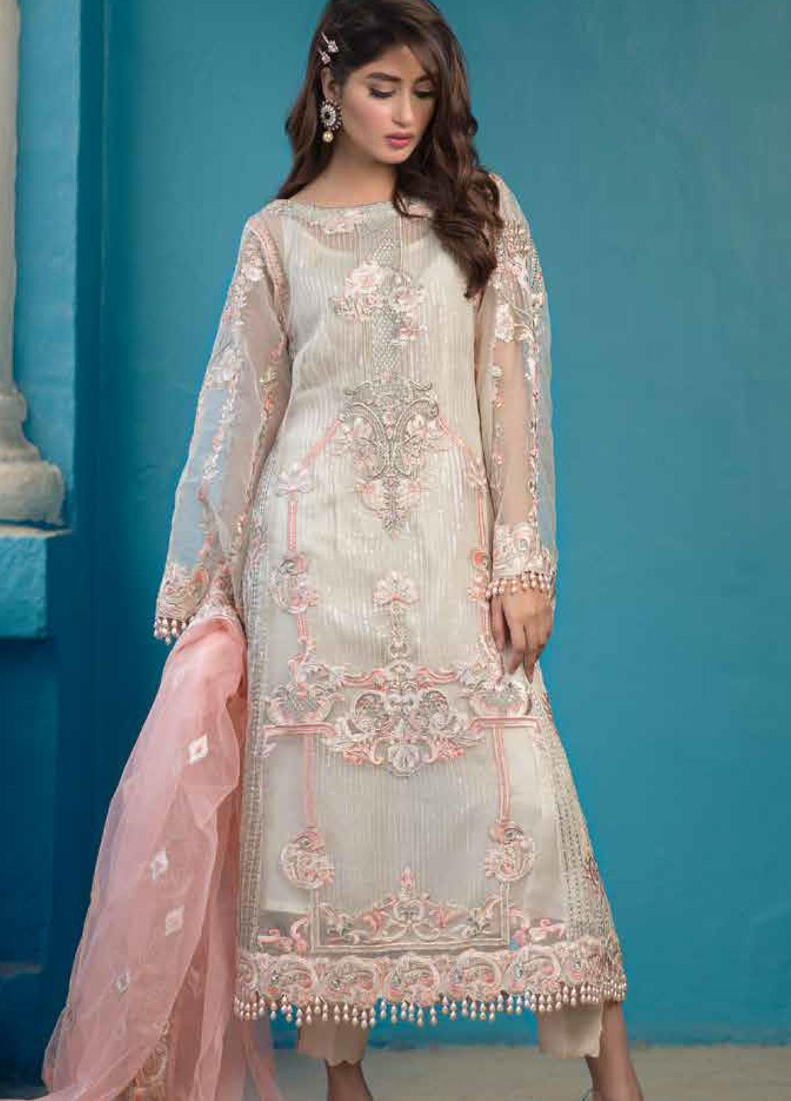 Sheeba Kapadia Embroidered Organza Unstitched 3 Piece Suit SHK19F SELENE - Formal Collection