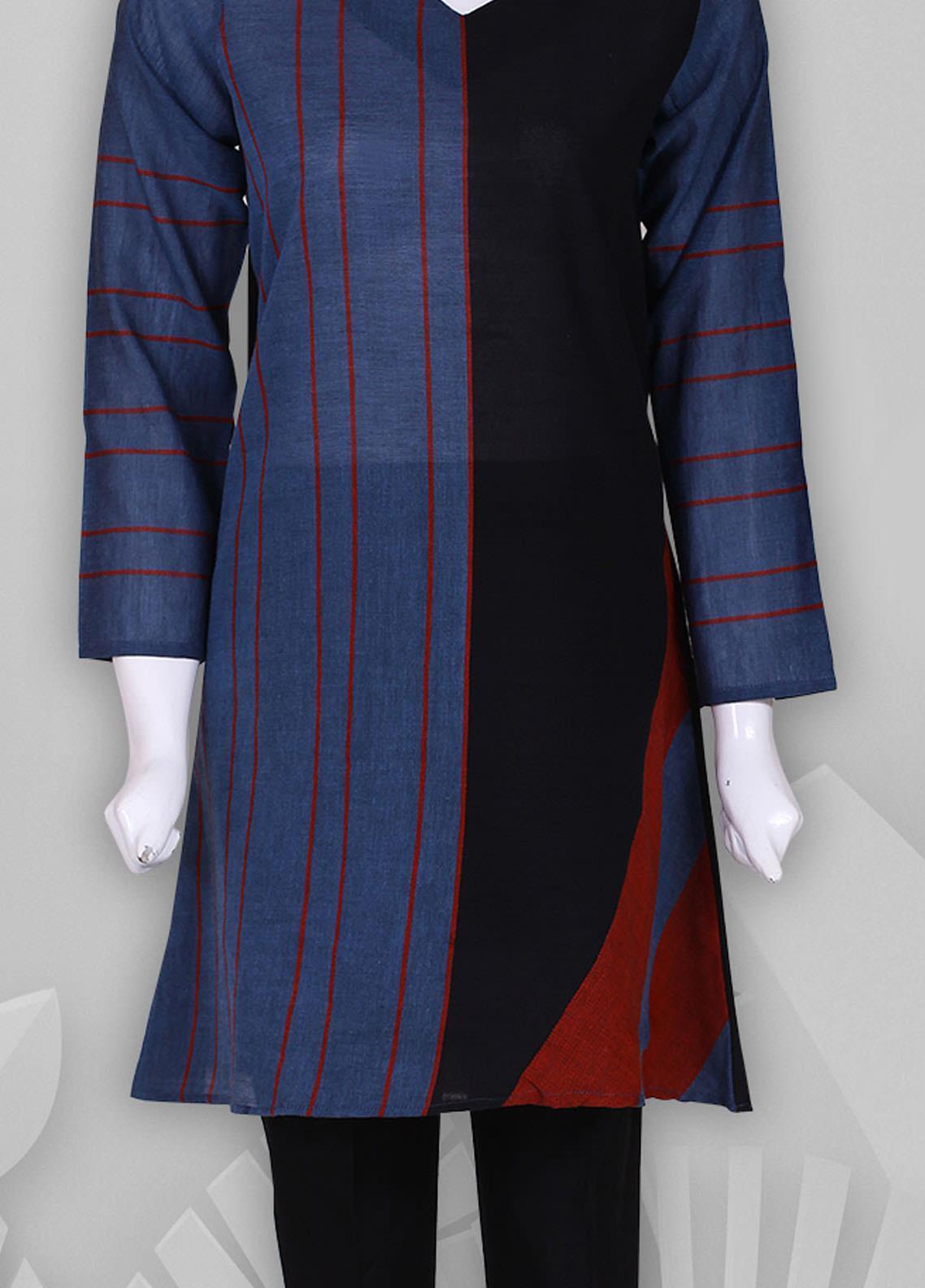 Sheep Casual Woven Stitched Kurti SB200406 BLUE