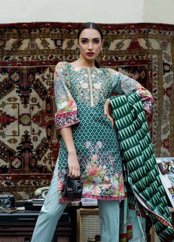 Signature Icon Embroidered Cotton Unstitched 2 Piece Suit SI17W 1B