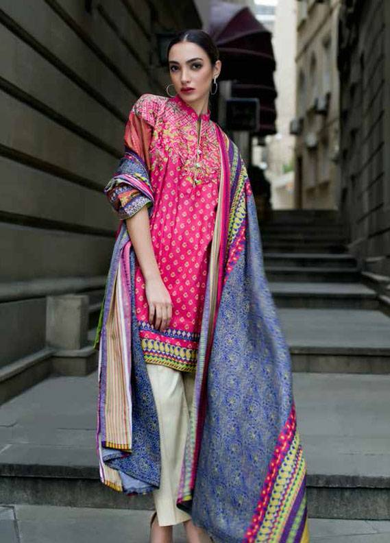Signature Icon Embroidered Cotton Unstitched 2 Piece Suit SI17W 3B