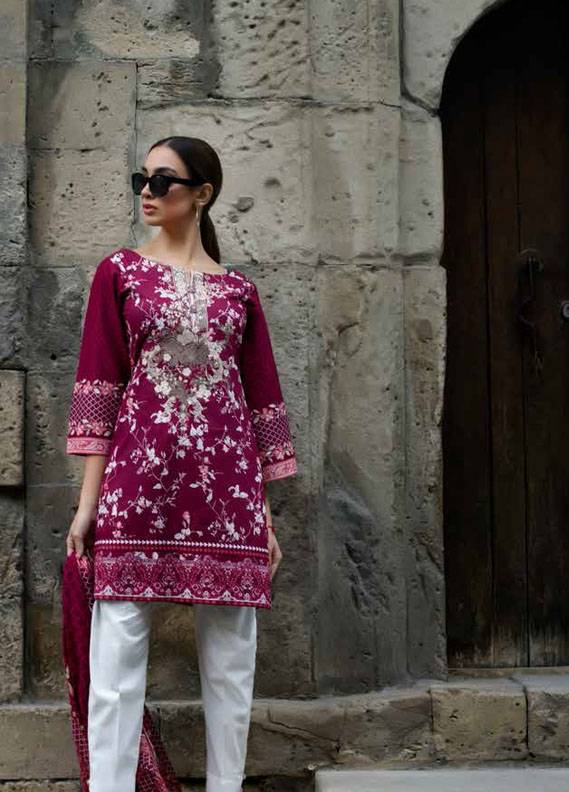 Signature Icon Embroidered Cotton Unstitched 2 Piece Suit SI17W 4A