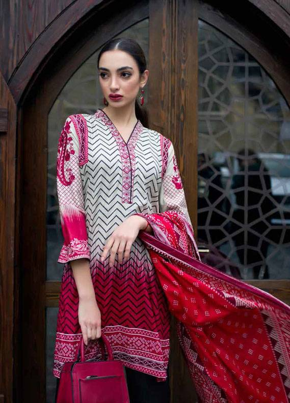 Signature Icon Embroidered Cotton Unstitched 2 Piece Suit SI17W 5A
