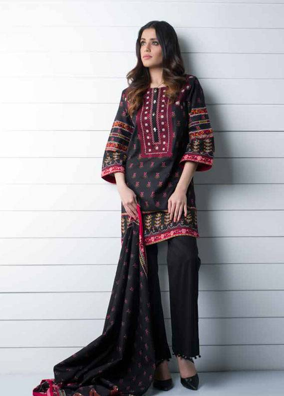 Signature Icon Embroidered Cotton Unstitched 2 Piece Suit SI17W 8A
