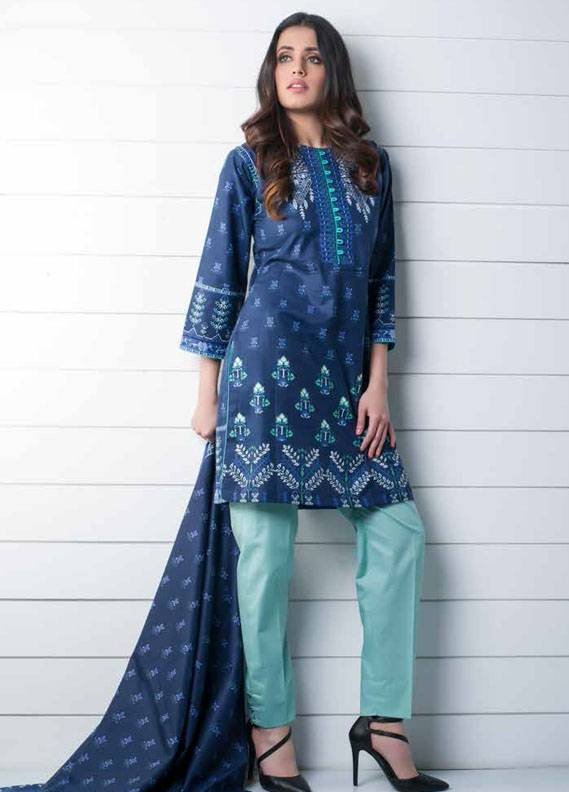 Signature Icon Embroidered Cotton Unstitched 2 Piece Suit SI17W 8B