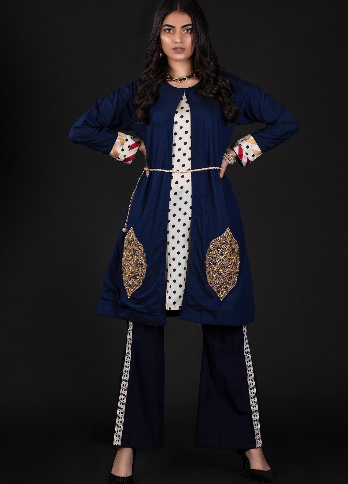 Sidra Mumtaz Embroidered Cotton Silk Stitched 2 Piece Suit 3A OVALE