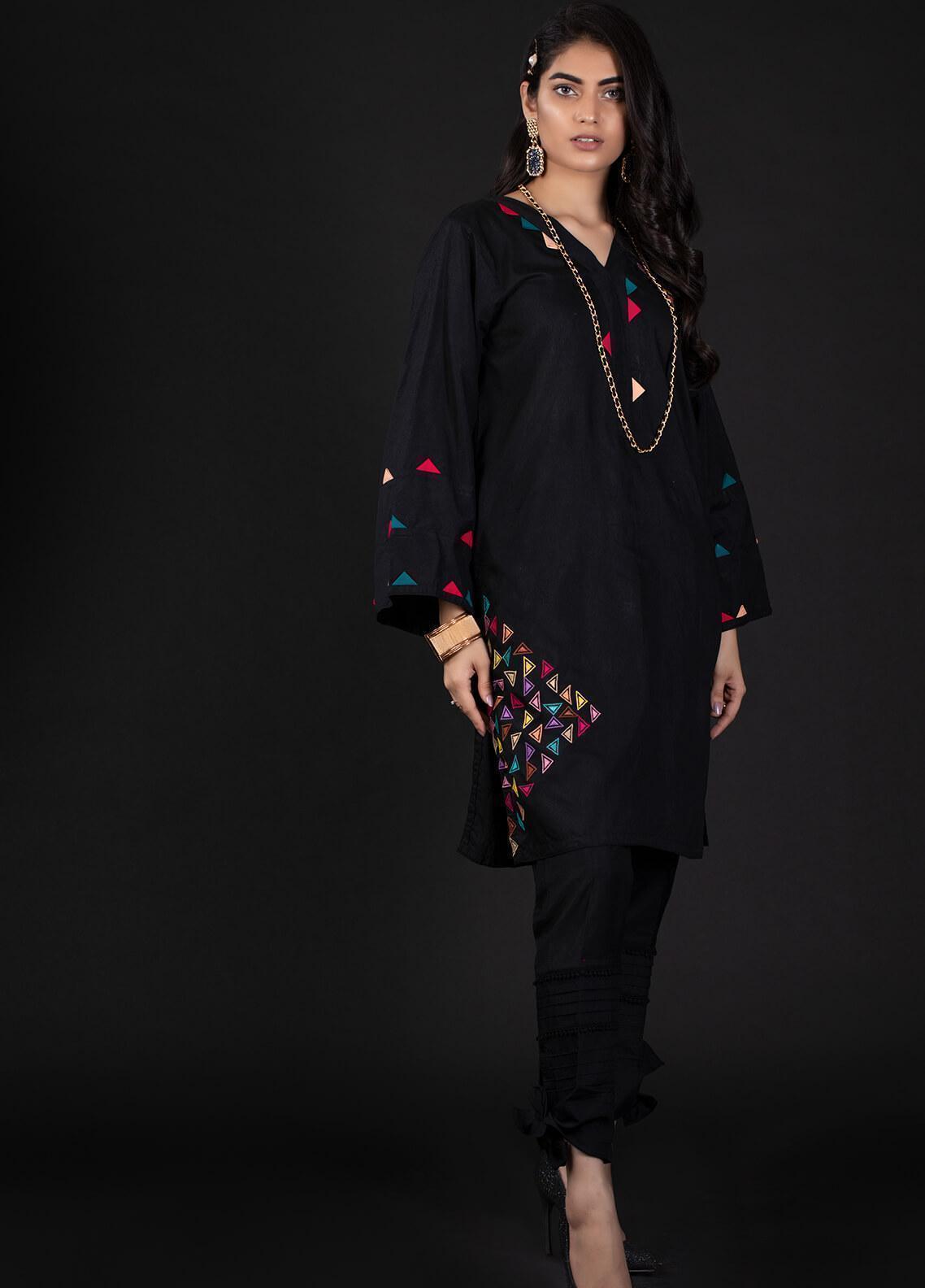 Sidra Mumtaz Embroidered Cotton Silk Stitched 2 Piece Suit 7 TIPPSY TURVY
