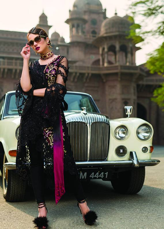 Saadia Mirza Embroidered Chiffon Unstitched 3 Piece Suit SM17C 01