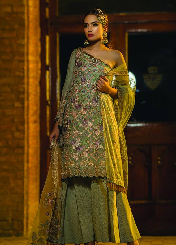 Saadia Mirza Embroidered Chiffon Unstitched 3 Piece Suit SM17C 06