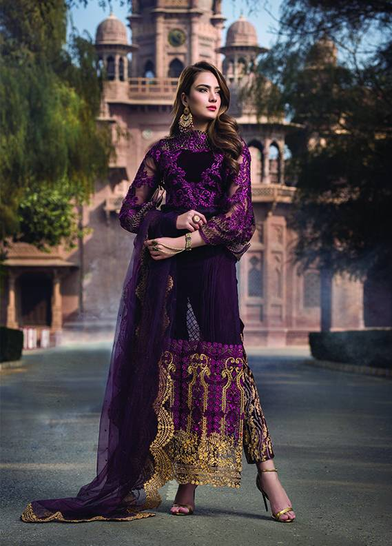 Saadia Mirza Embroidered Chiffon Unstitched 3 Piece Suit SM17C 08