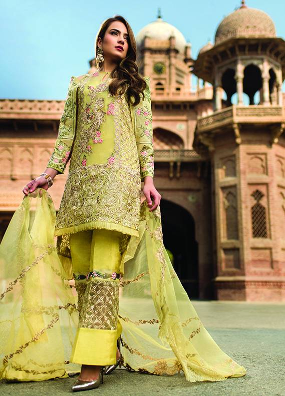 Saadia Mirza Embroidered Chiffon Unstitched 3 Piece Suit SM17C 09