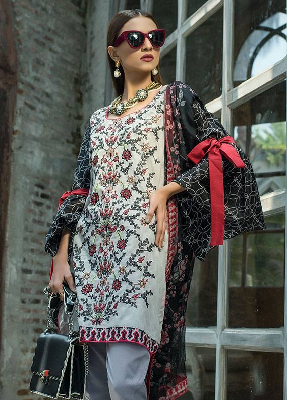 Summerina By LSM Embroidered Lawn Unstitched 3 Piece Suit SMR18L 2A - Spring / Summer Collection