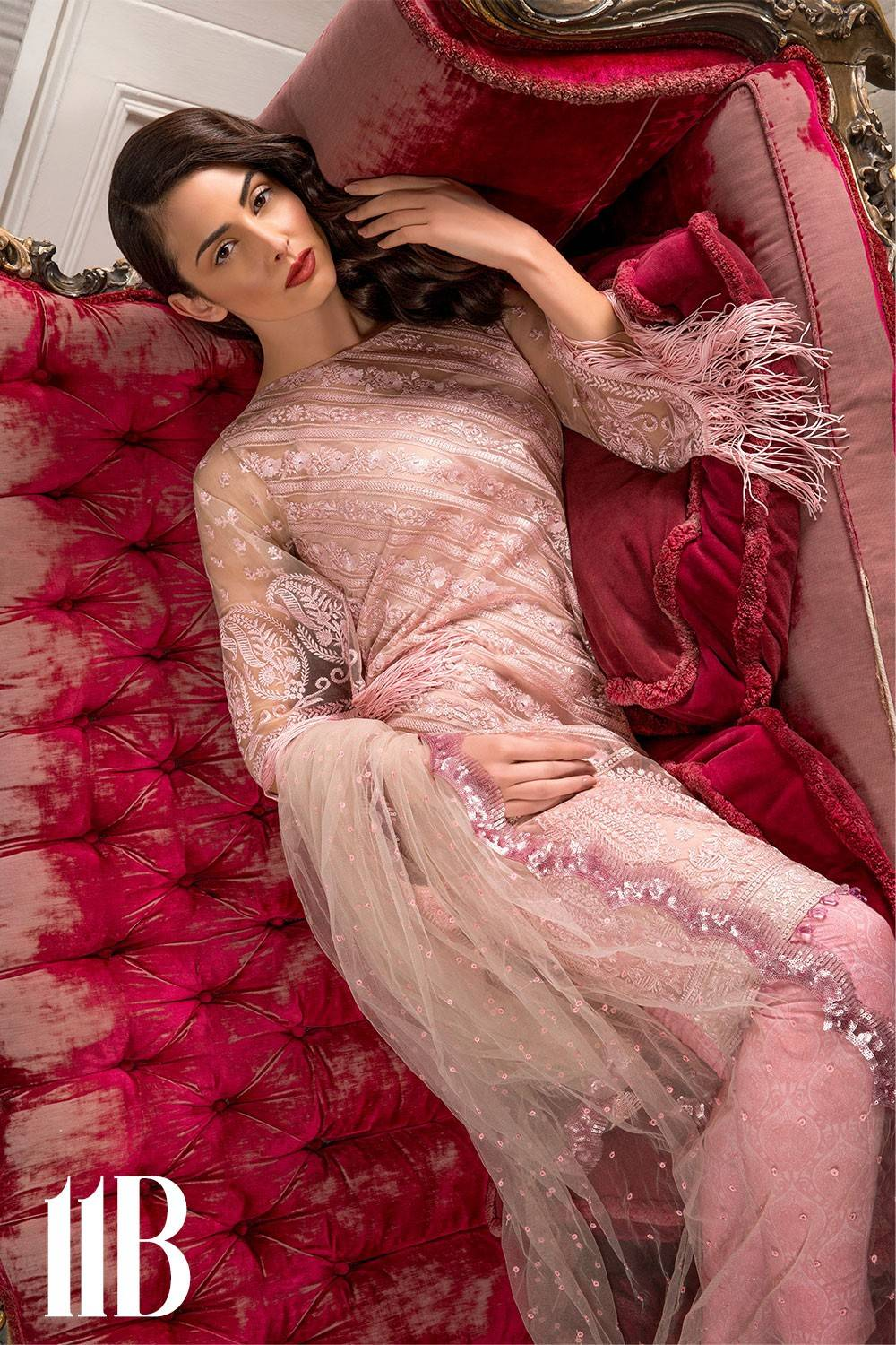 Sobia Nazir Embroidered Lawn Unstitched 3 Piece Suit SN17L 11B