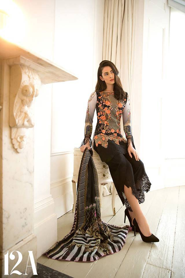 Sobia Nazir Embroidered Lawn Unstitched 3 Piece Suit SN17L 12A