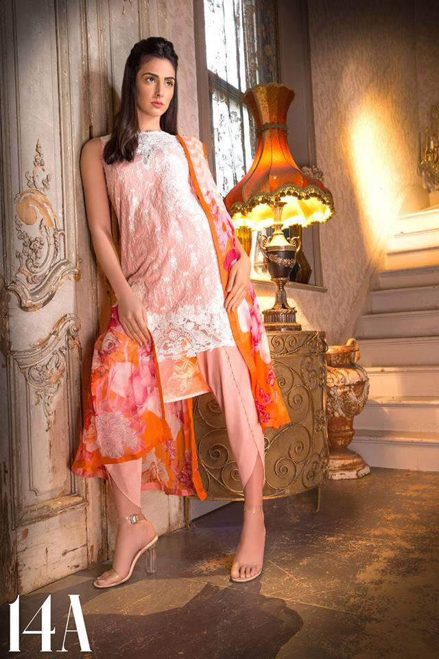Sobia Nazir Embroidered Lawn Unstitched 3 Piece Suit SN17L 14A