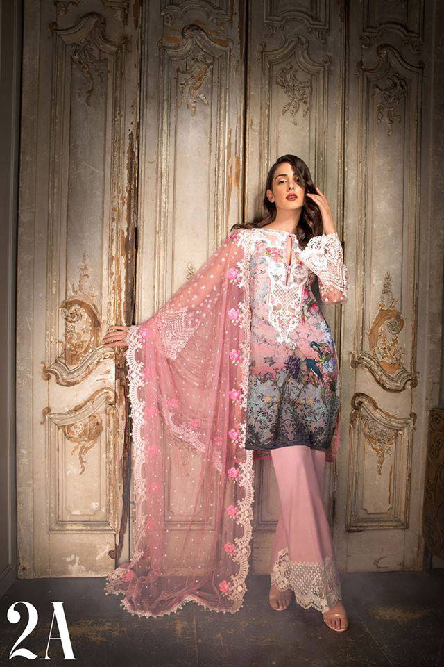 Sobia Nazir Embroidered Lawn Unstitched 3 Piece Suit SN17L 2A
