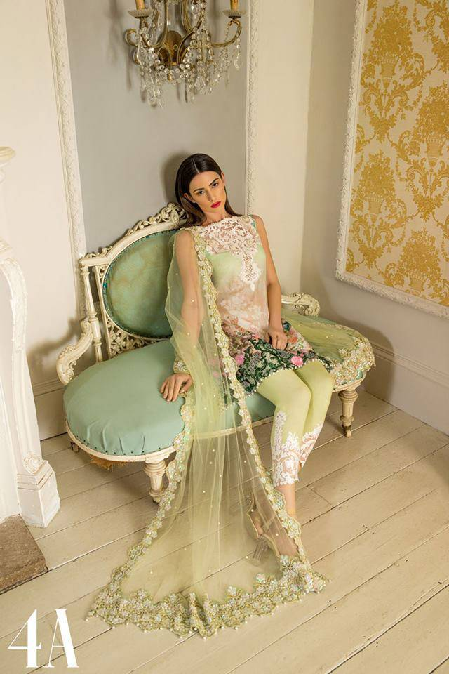 Sobia Nazir Embroidered Lawn Unstitched 3 Piece Suit SN17L 4A