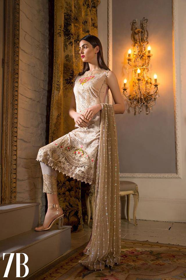 Sobia Nazir Embroidered Lawn Unstitched 3 Piece Suit SN17L 7B