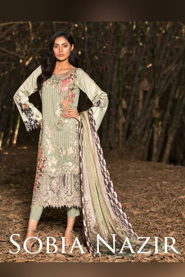 Sobia Nazir Embroidered Cotton Satin Unstitched 3 Piece Suit SN17W 03
