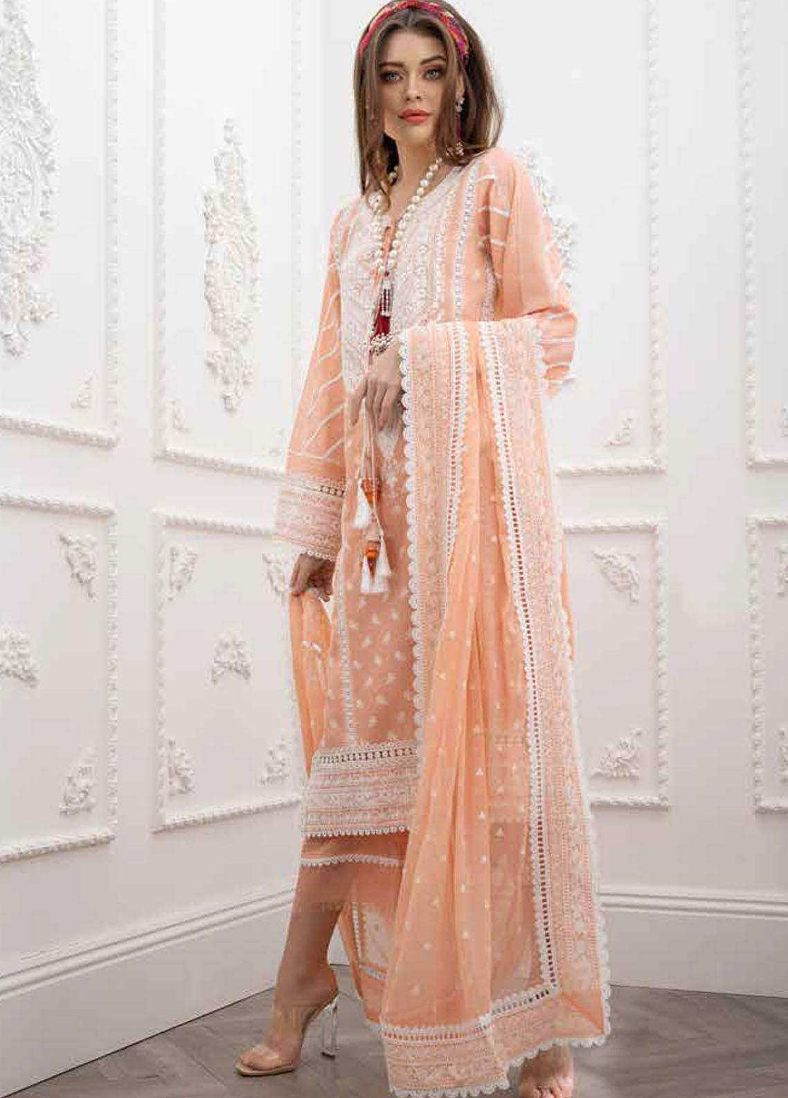 Sobia Nazir Embroidered Lawn Suits Unstitched 3 Piece SN21L 13A - Luxury Collection