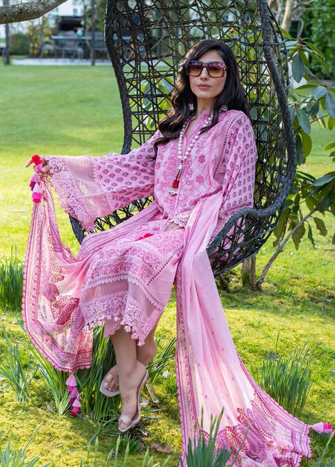 Sobia Nazir Embroidered Lawn Suits Unstitched 3 Piece SN21L 4A - Luxury Collection