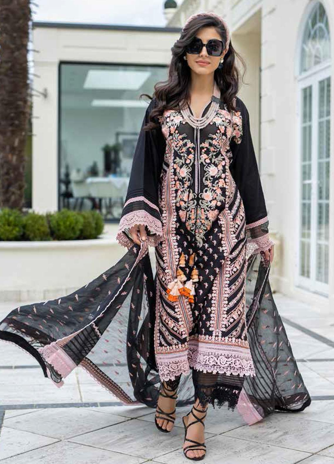 Sobia Nazir Embroidered Lawn Suits Unstitched 3 Piece SN21L 9A - Luxury Collection